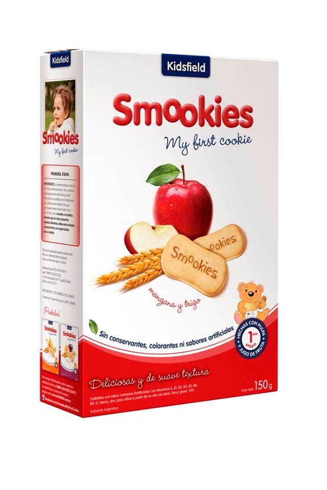 Galletitas smookies sin conservantes de manzana y trigo