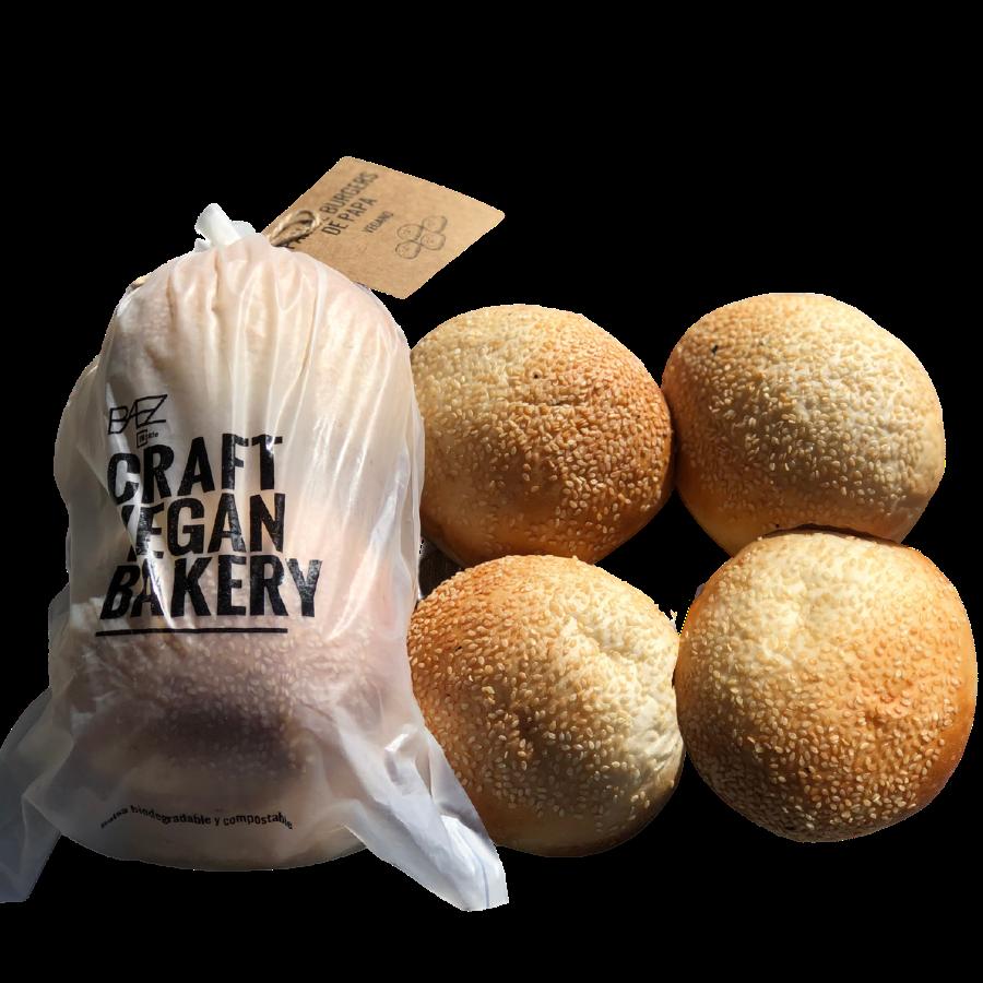 Pan para hamburguesas  integral x4