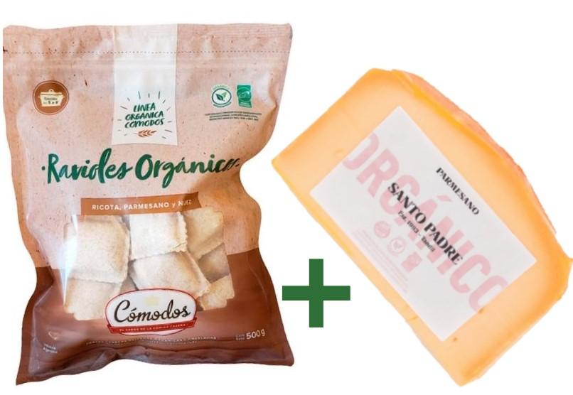 ¡20 % off! Ravioles + queso parmesano