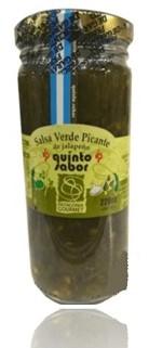 Salsa verde picante de jalapeño