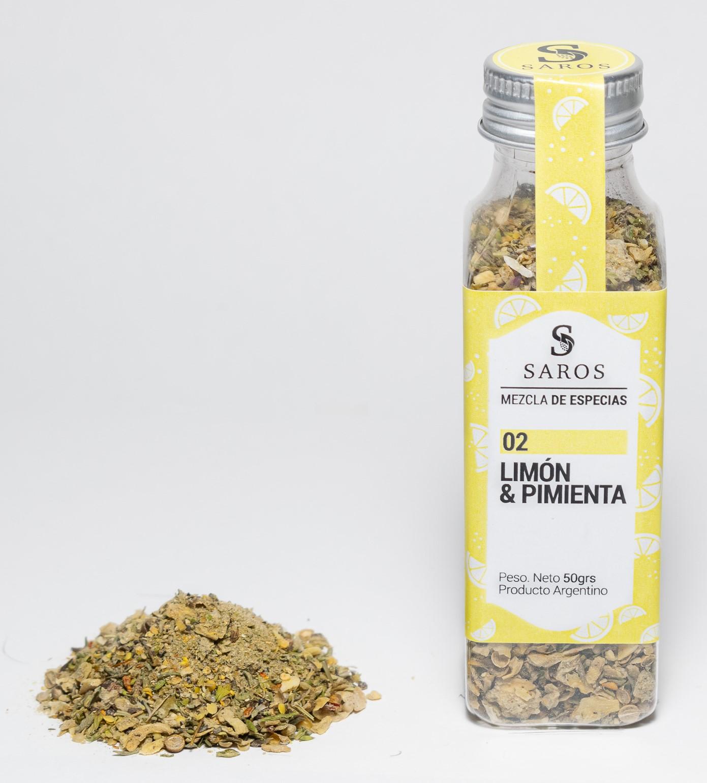 Mezcla de especias limon y pimienta