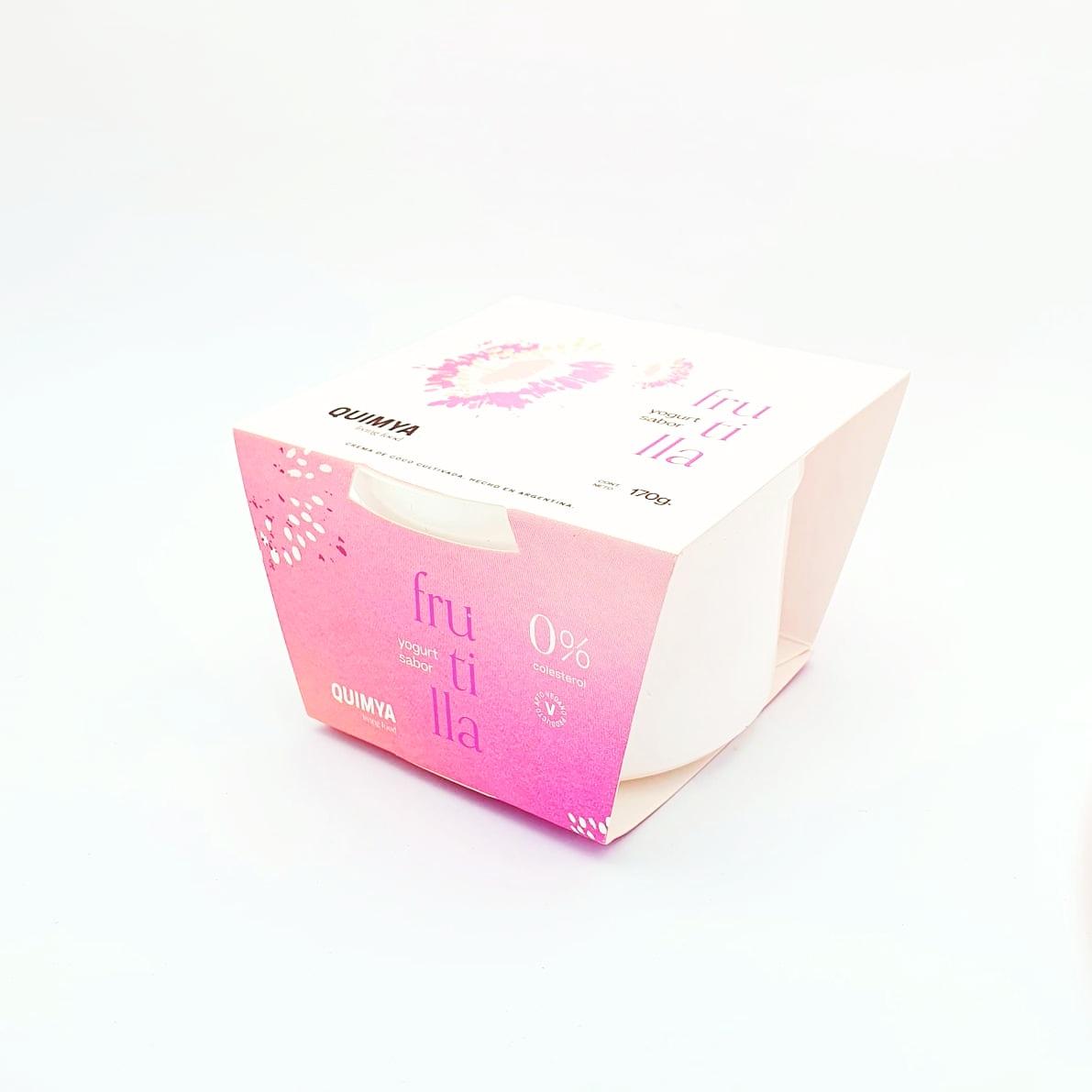 Yogur de coco sabor frutillas