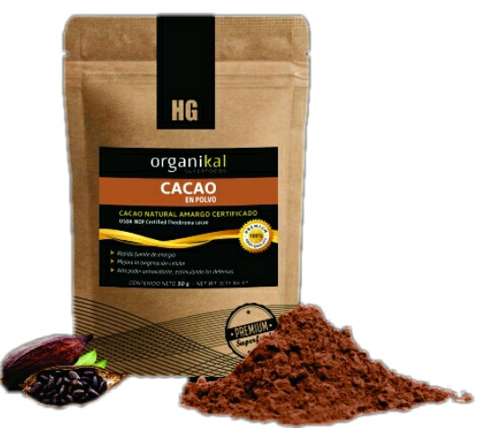 Superfood cacao natural en polvo