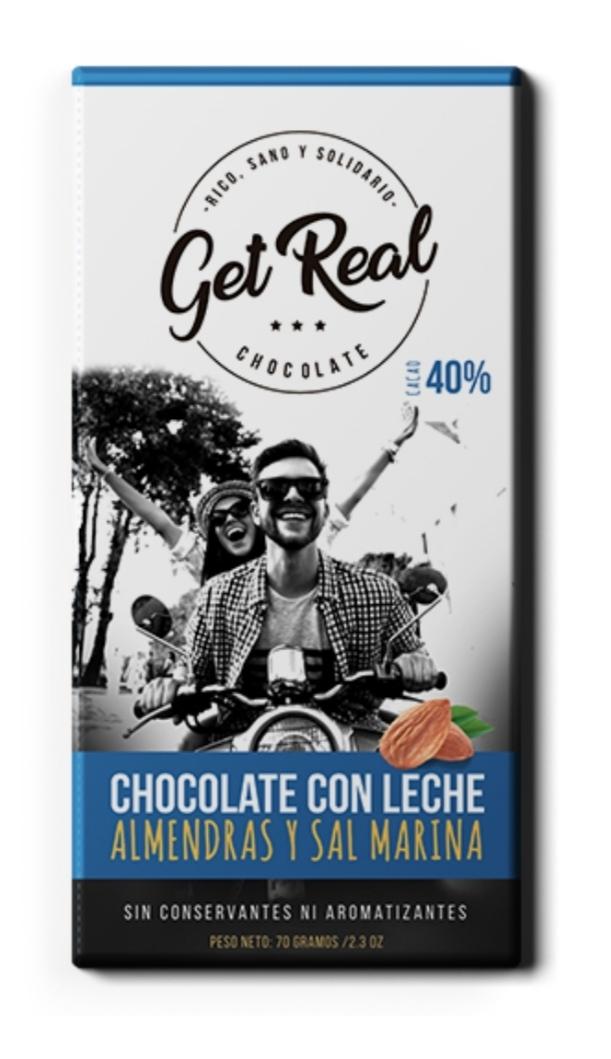 Chocolate con leche almendras y sal marina