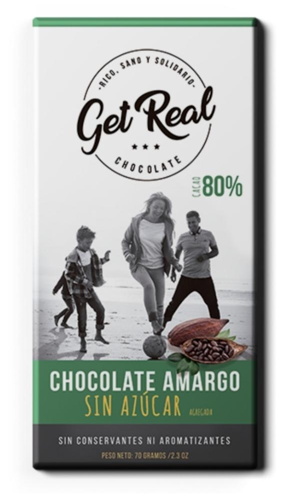 Chocolate amargo 80% sin azúcar