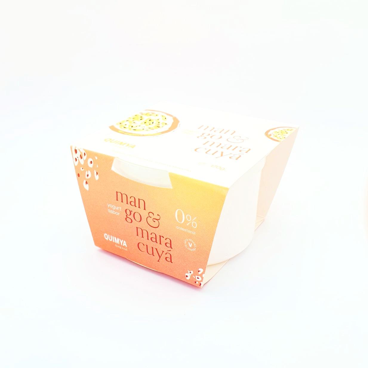 Yogur de coco sabor mango y maracuya