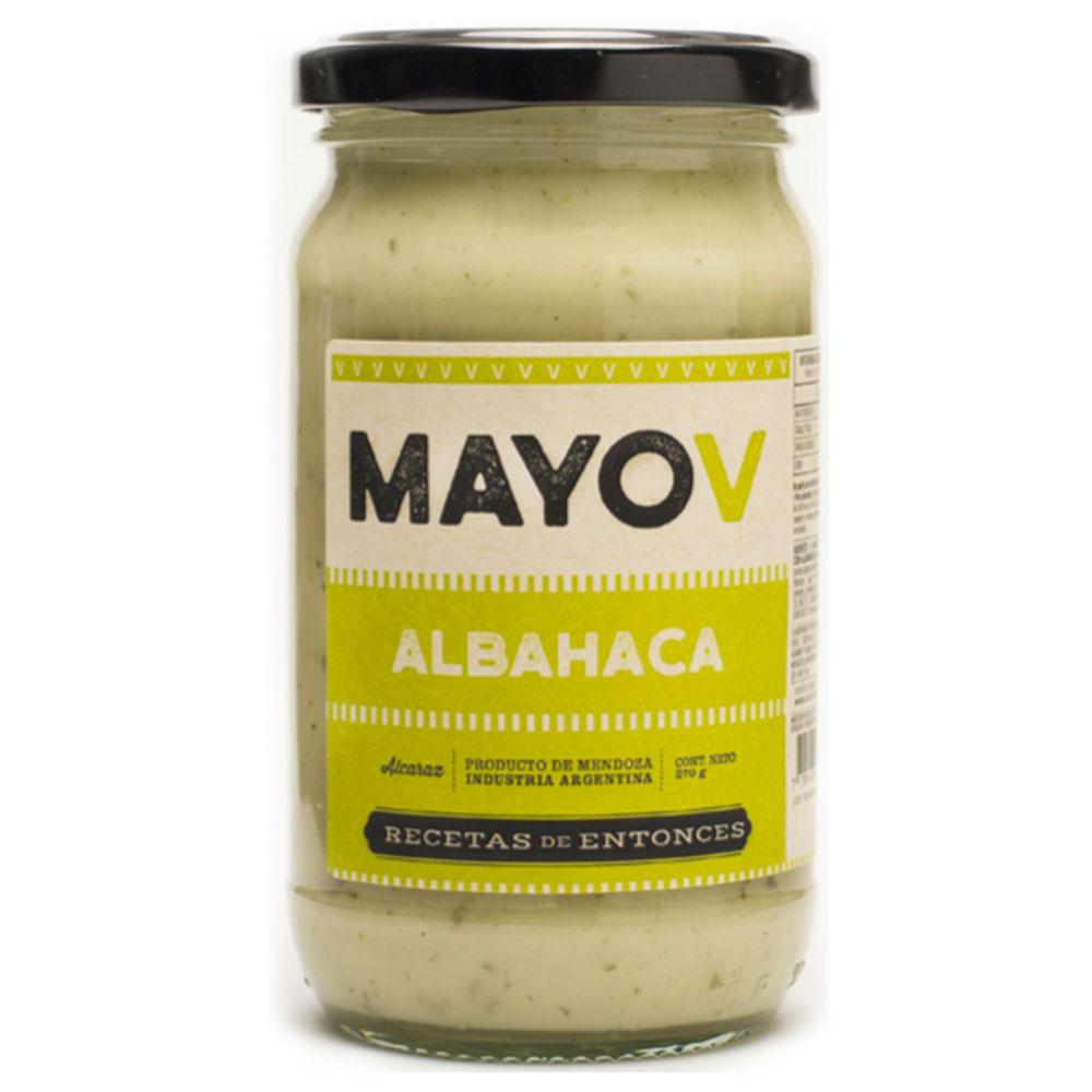 Mayonesa vegana con albahaca