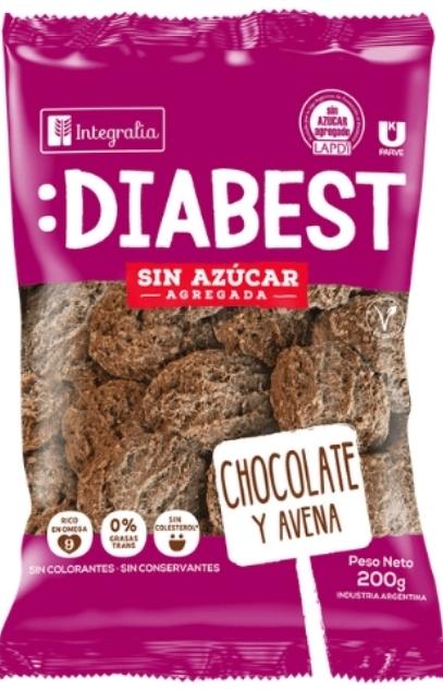 Galletitas Diabest Cacao y Avena