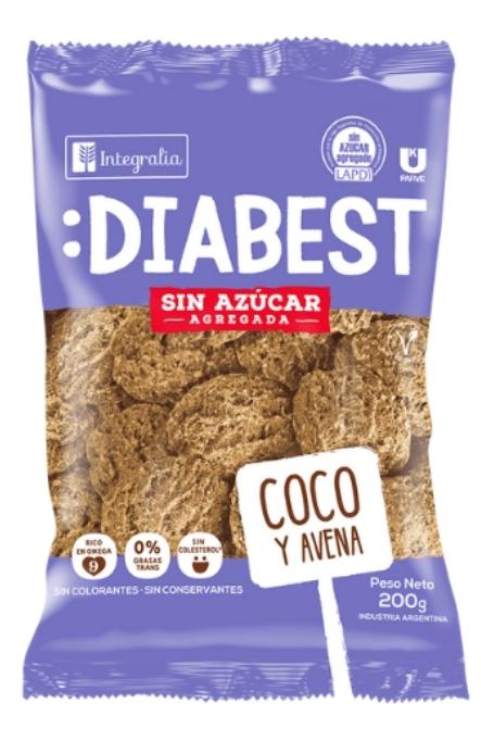 Galletitas Diabest Coco y Avena