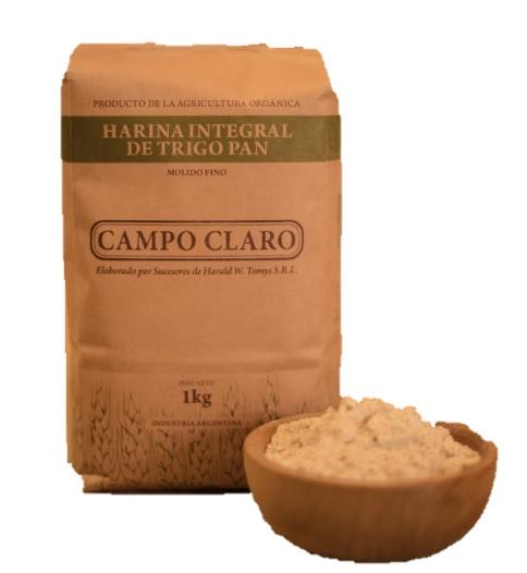Harina Integral de trigo pan