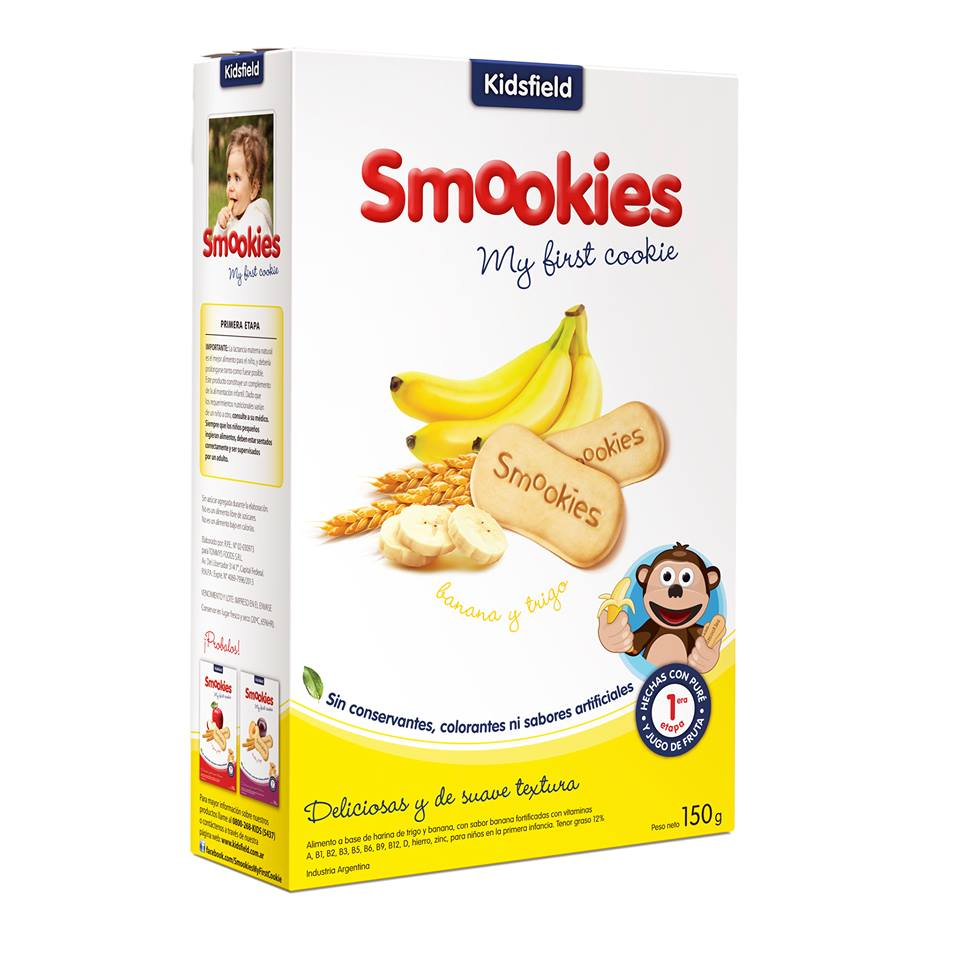 Galletitas smookies sin conservantes de banana