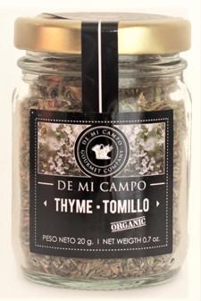 Hierba culinaria tomillo frasco