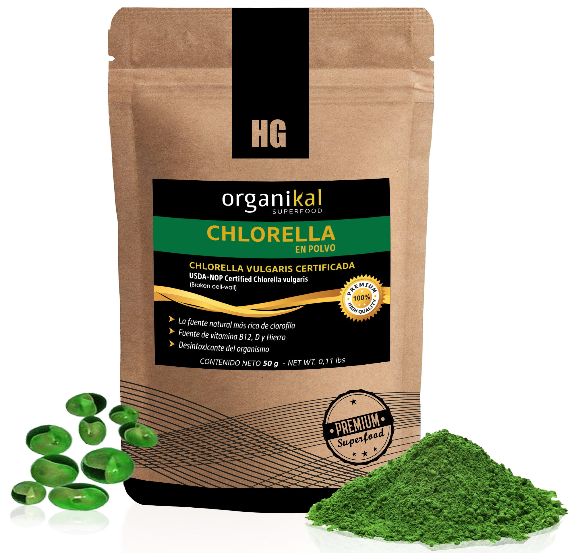 Superfood chlorella en sobre