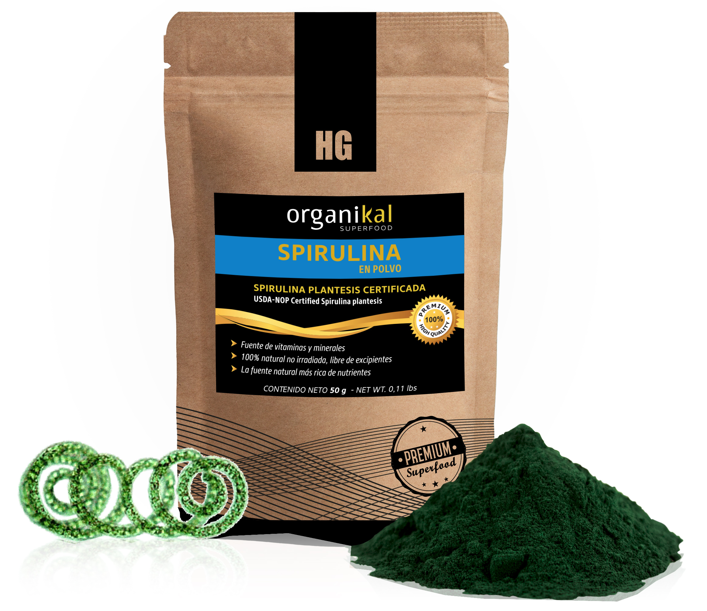 Superfood spirulina en sobre