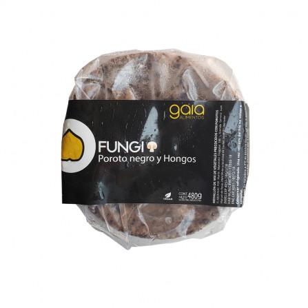 Hamburguesa de poroto negro y hongos