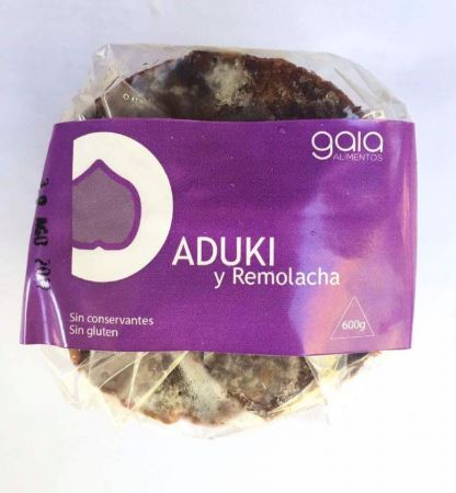 Hamburguesa de aduki y remolacha