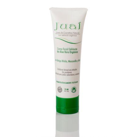 Crema facial exfoliante de aloe vera