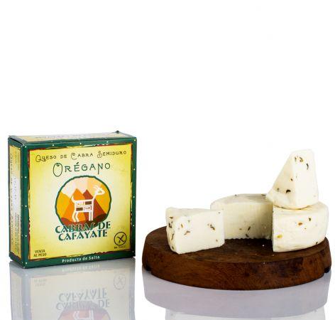 Queso de cabra semiduro sabor oregano