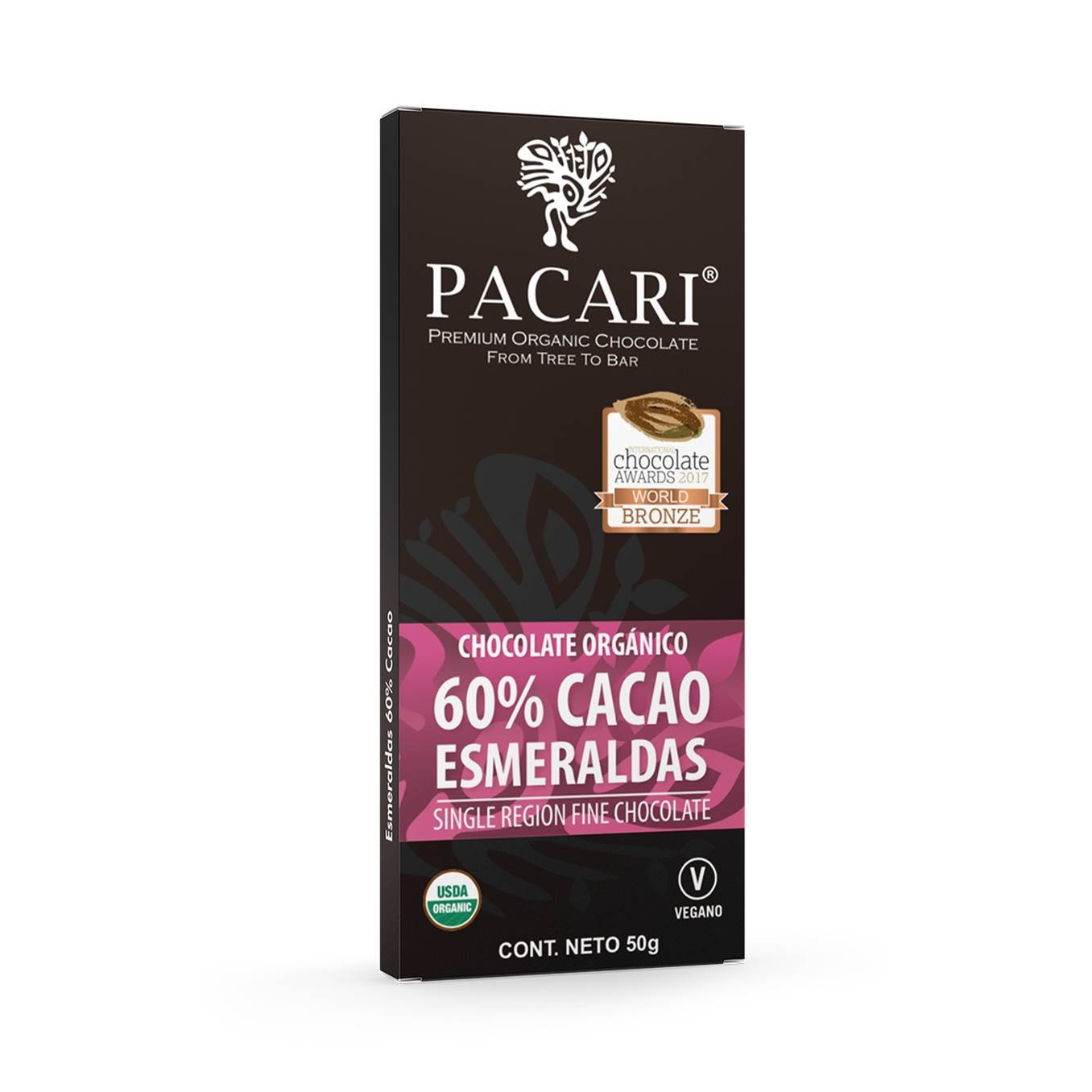 Chocolate barra 60% cacao Esmeraldas
