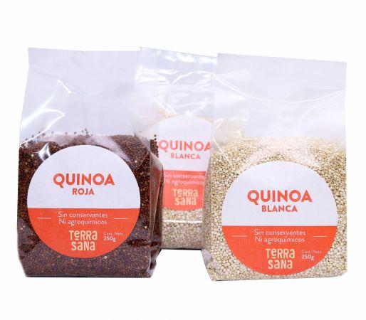 Quinoa roja, quinoa blanca + quinoa blanca GRATIS