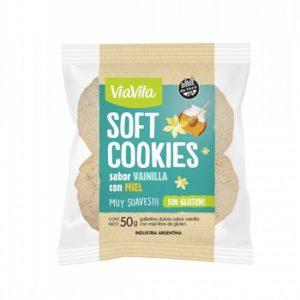 Soft cookies vainilla con miel